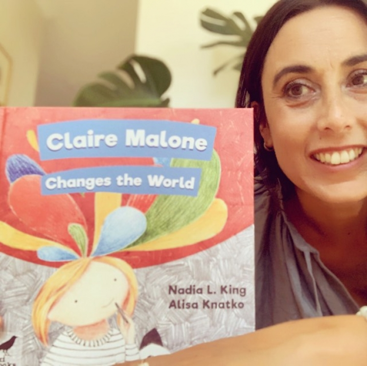 Nadia L. King and her latest book, 'Claire Malone Changes the World'.